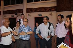 Vijaya (left) briefing the AGT delegation